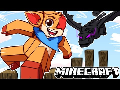 Minecraft parkour but a ender Dragon is chasing me.......😨 [Minecraft]