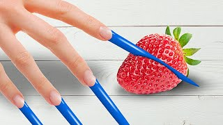 GIRLS PROBLEMS WITH LONG NAILS    Hacks, Tricks and Gadgets by 5-Minute Crafts LIKE