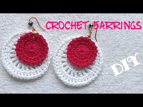 ❄ Crochet Earrings ❄ Disc Earrings ❄ (0082)