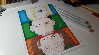Speed Drawing INO-SHIKA-CHO (TEAM 10) - Naruto Shippuden