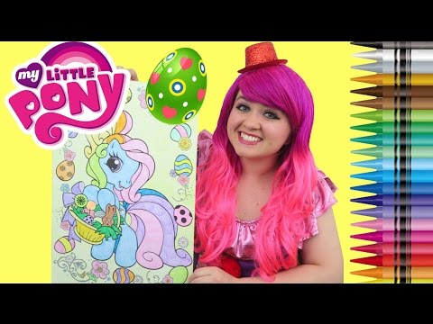 Coloring Rainbow Dash Easter Egg My Little Pony GIANT Coloring Book Page Crayons | KiMMi THE CLOWN