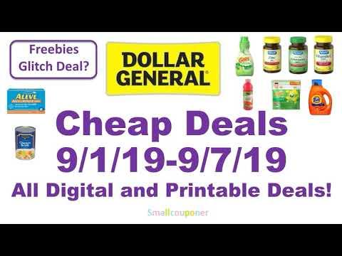 Dollar General Cheap Deals 9/1/19-9/7/19! All Digital And Printable Deals!