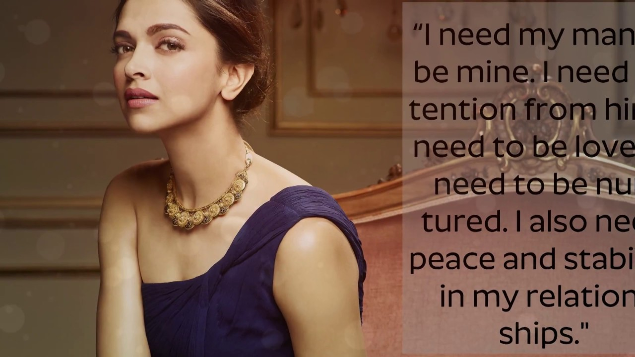 Amazing Quotes By DEEPIKA PADUKONE Every Girls Should Live ...