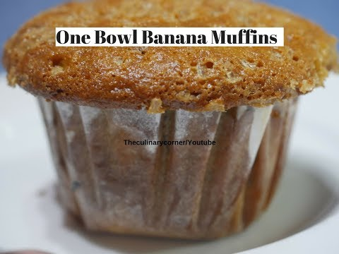 One Bowl Banana Muffins