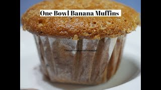 One Bowl Banana Muffins