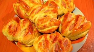 Простой домашний рецепт булочек с начинкой из ветчины