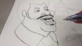 || I Draw Caricatures of Neil Degrasse Tyson & Chuck Nice || Sketch Scheme || No Commentary ||