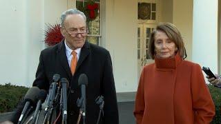 Sen. Schumer & Rep. Pelosi talk to reporters