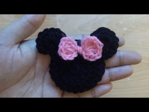 How To Make Crochet Minnie Mouse Applique