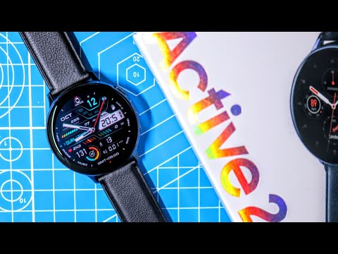 Galaxy Watch Active 2 Black Stainless Steel Unboxing And First Impressions!!