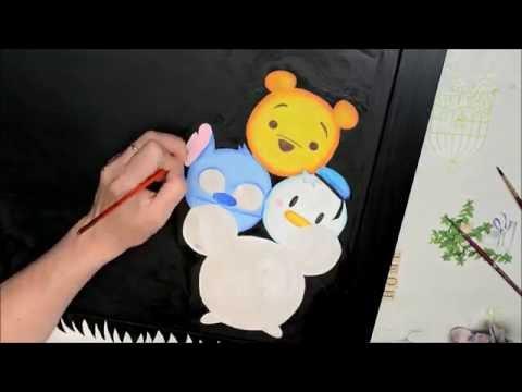 Recycle a frame(executive) in blackboard Tsum Tsum Disney