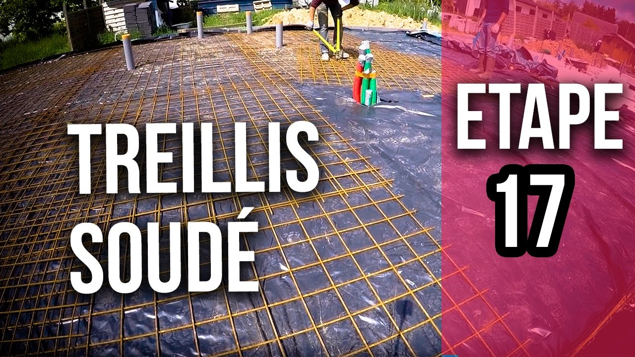 Dalle Beton Terrasse Youtube Pose Des Treillis Soudé Et Ligature - Etape 17 - Youtube