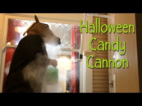 Candy Cannon Prank! Trick or Treat.