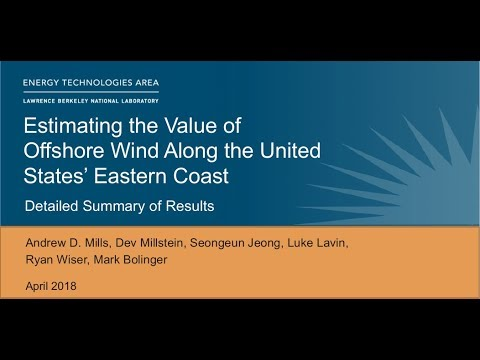Estimating the Value of Offshore Wind Along the United States' Eastern Cost