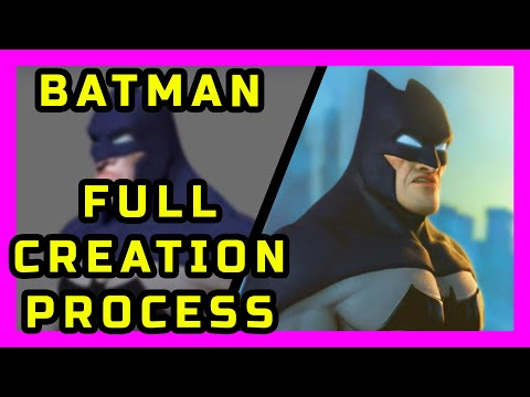 Batman Timelapse - Digital Character School