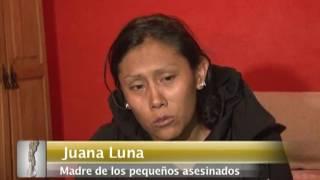 Juana Luna madre de los tres niños asesinados en la balacera rompe el silencio