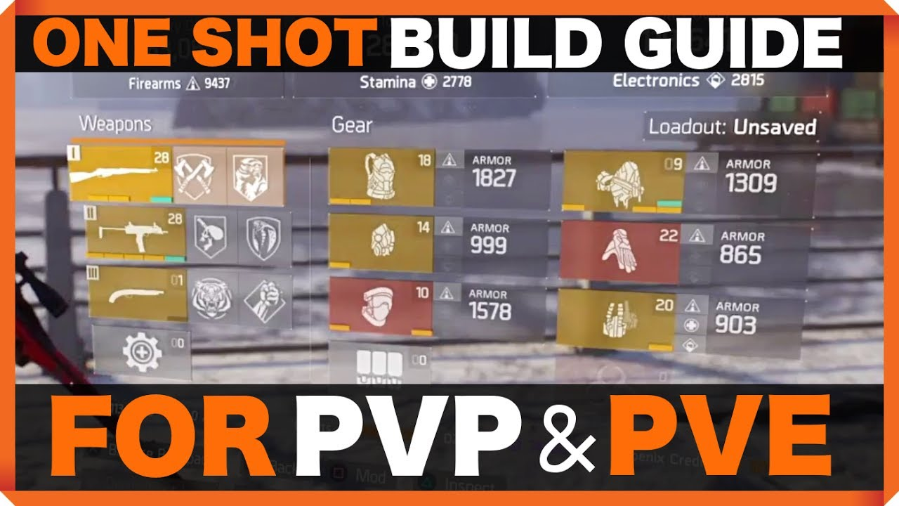 The Division One Shot Build