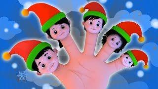 エルフの指の家族 | 子供のためのクリスマスソング | 有名な歌 | メリークリスマス | Elves Finger Family | Christmas Song | Festival Songs