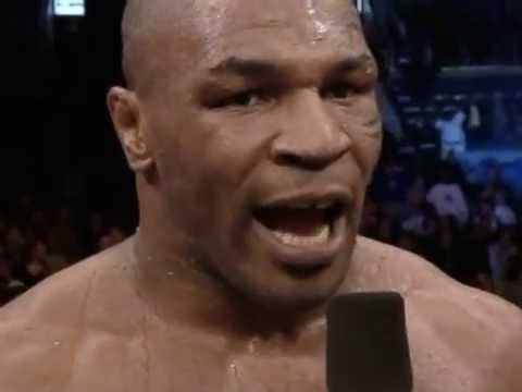 Mike Tyson vs Clifford Etienne (fight + postfight interview)