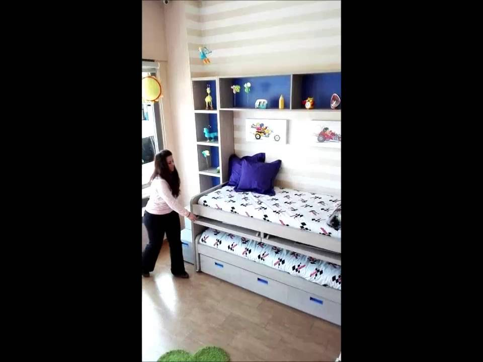 muebles para espacios reducidos compacto con mesas extraibles y dos camas youtube