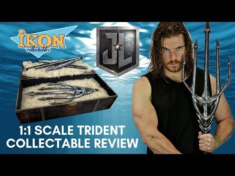 Ikon Collectables 1:1 Scale Aquaman Trident- Collectable Review!
