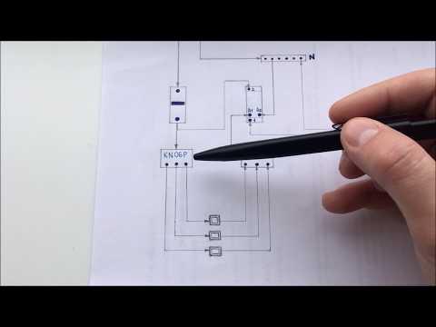 Импульсное реле схема подключения. Управление освещением с нескольких мест без распред коробок.