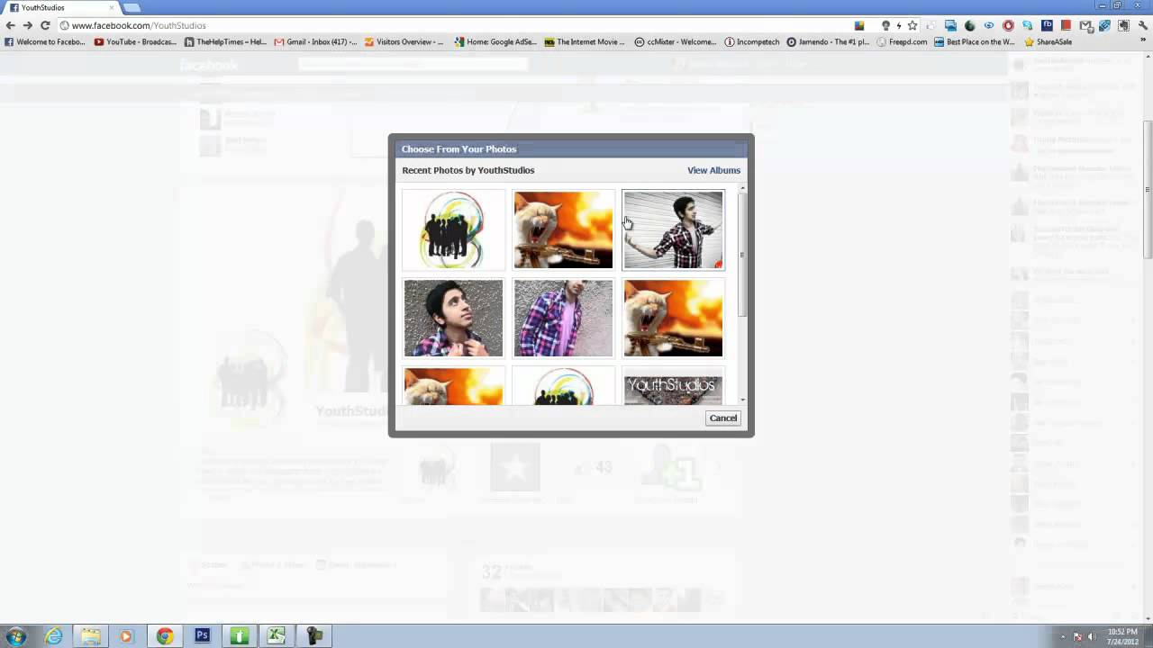 Animated gif on facebook timeline cover youtube negle Gallery