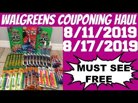 WALGREENS COUPONING HAUL 8/11/2019 - 8/17/2019 | MUST SEE