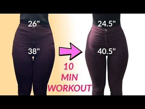 How To Get A Small Waist And Wide Hips | 10 Minute Home Workout!