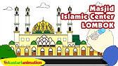 Cara Menggambar Dan Mewarnai Masjid Istiqlal Yang Indah Coloring Page Youtube