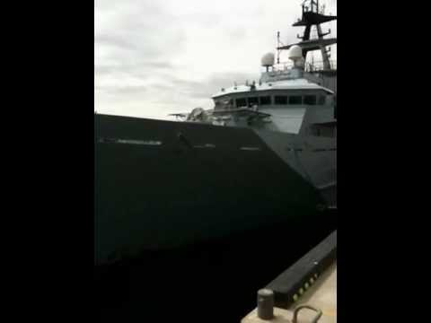 HMS Tyne docked on River Tyne