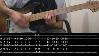 RHCP - I could die for you (lesson w/ tabs)