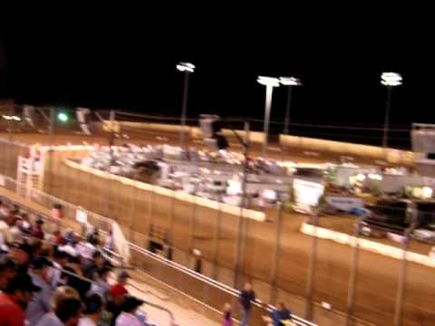 B Main !st Start Perris Sprint Car Races Oval Nationals