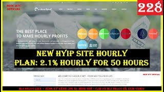 e-hourly.net | New Hyip Site Hourly - Plan: 2.1% Hourly For 50 Hours