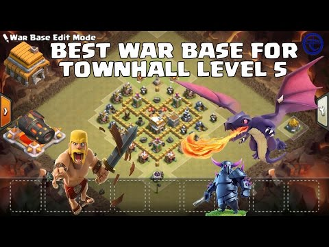 Best War Base For Townhall Level 5
