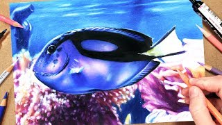 How To Draw a Realistic Fish | Marker + Coloured Pencil Drawing Tutorial