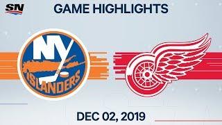 NHL Highlights   Islanders vs. Red Wings - Dec. 02, 2019