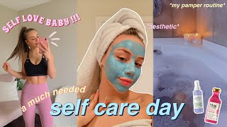 the ULTIMATE self care day (pamper routine) skincare, haircare, working out, nails, & eyebrows!!