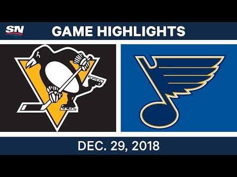 NHL Highlights   Penguins vs. Blues - Dec 29, 2018