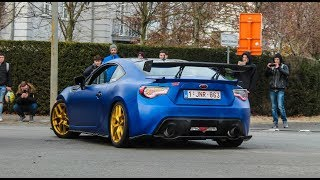 Modified cars leaving a carshow | Cars for life 2017