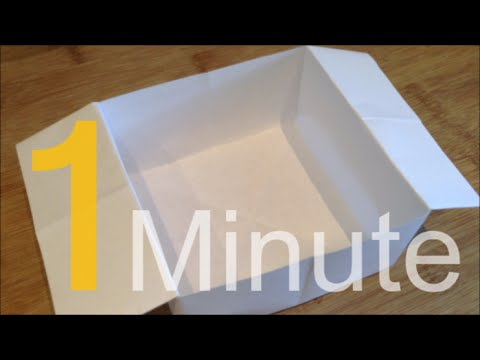 How To Make A Box Out Of A4 Paper In One Minute Youtube