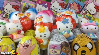 New Kinder Surprise Eggs Hello Kitty Surprise Eggs Kinder Chocolate Surprise Eggs Disney Barbie Cars