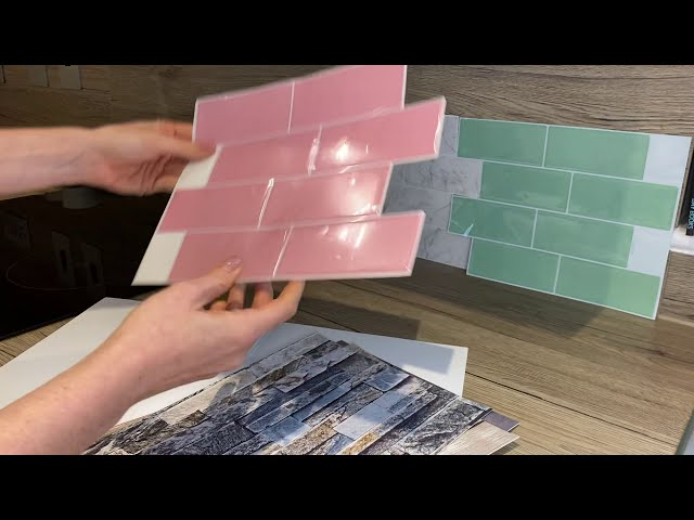 3D metro tile stickers order samples from Create Your World