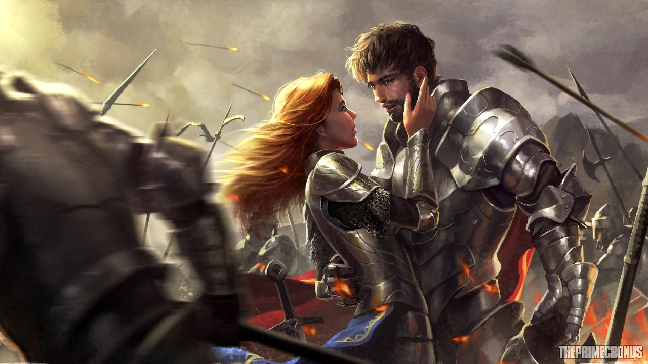 knight and princess - 1280×720