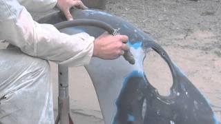 piaskowanie błotnika garbus