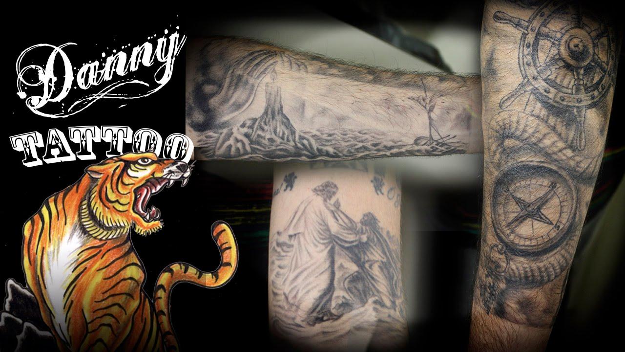 8befa188ce3a17 Fechamento Antebraço (Forearm Sleeve Tattoo) Danny Tattoo - TimeLapse