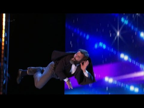 Britain's Got Talent 2015 S09E05 Vladimir Georgievsky Slapstick Silent Film Throwback Trampoline Act