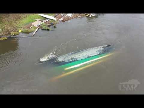 09-17-2020 Ono Island, AL - Hurricane Sally Storm Surge - Drone of Destroyed Boats and Coastline