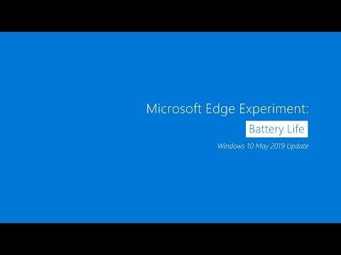 Microsoft Edge Experiment: Battery Life | Windows 10 May 2019 Update