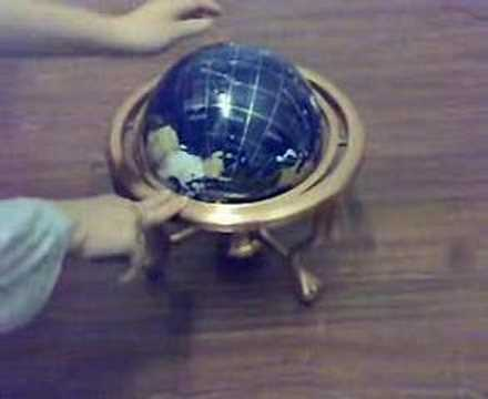 Blue gemstone decorative world globe with compass youtube blue gemstone decorative world globe with compass gumiabroncs Image collections